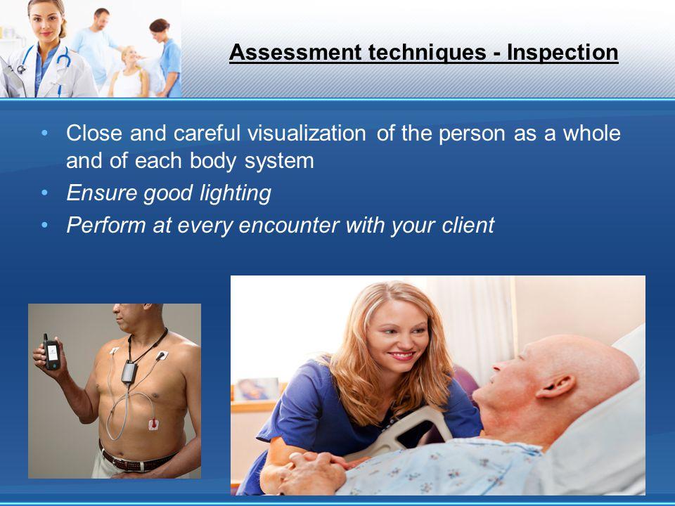 Assessment techniques - Inspection