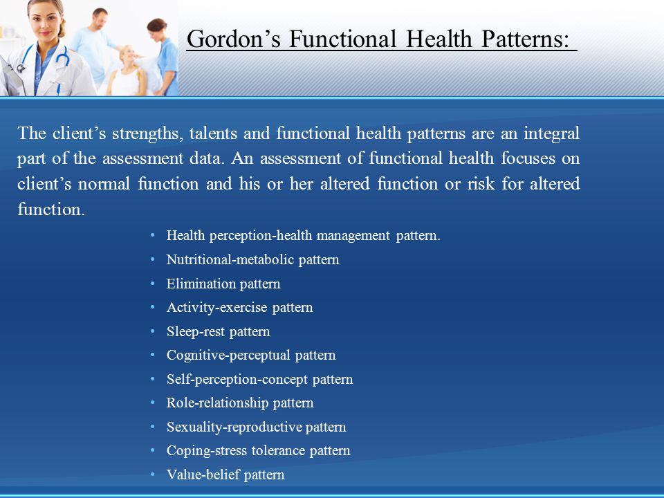 Gordon's Functional Health Patterns: