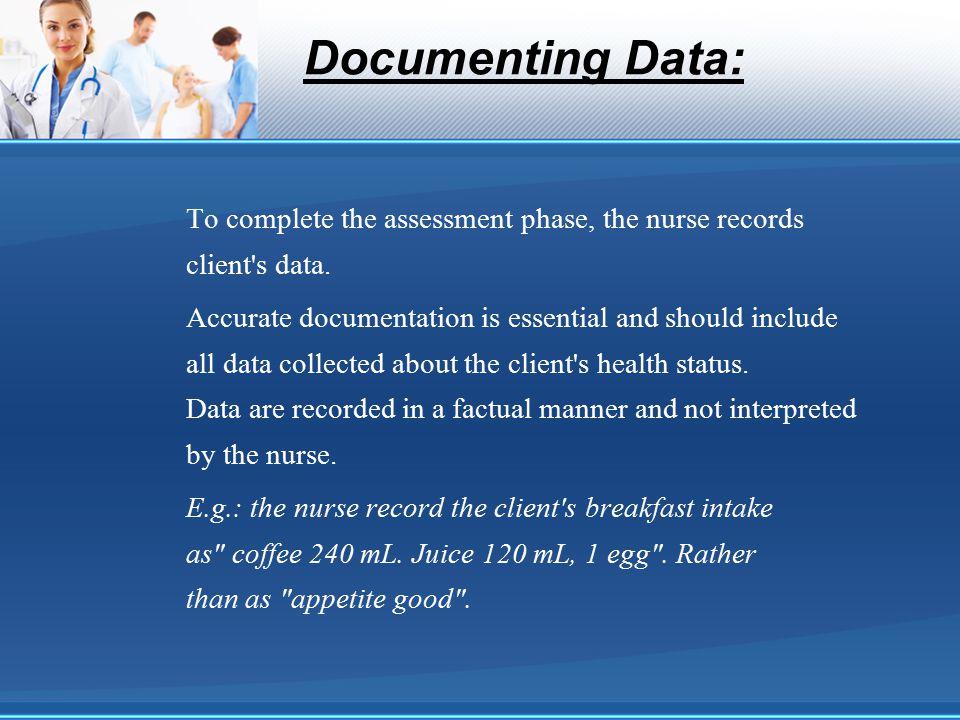 Documenting Data: