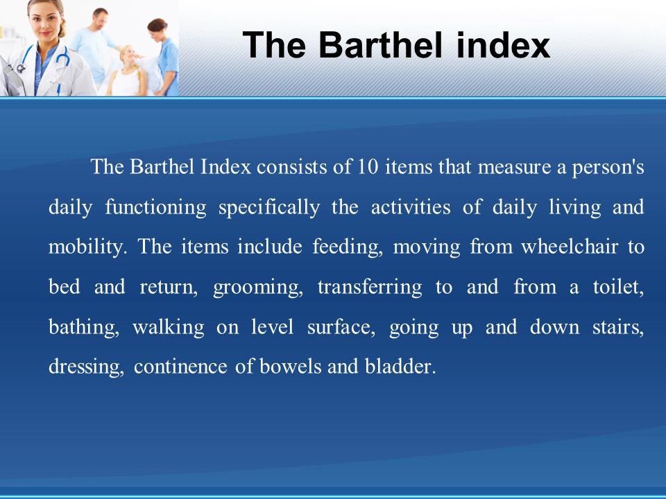The Barthel index