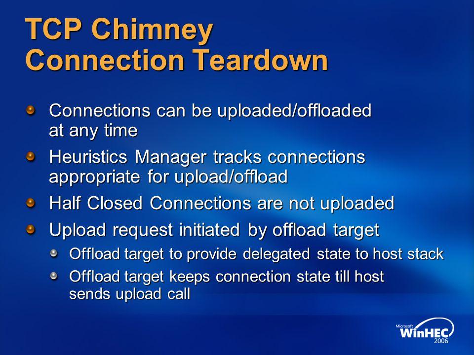 TCP Chimney Connection Teardown