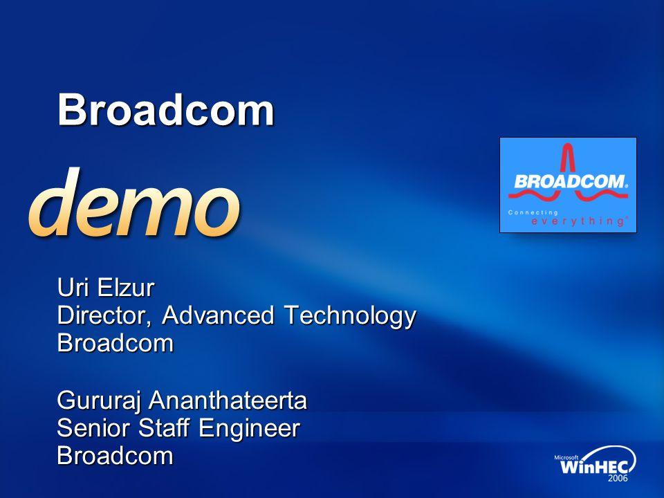 Uri Elzur Director, Advanced Technology Broadcom