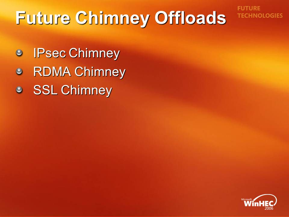Future Chimney Offloads