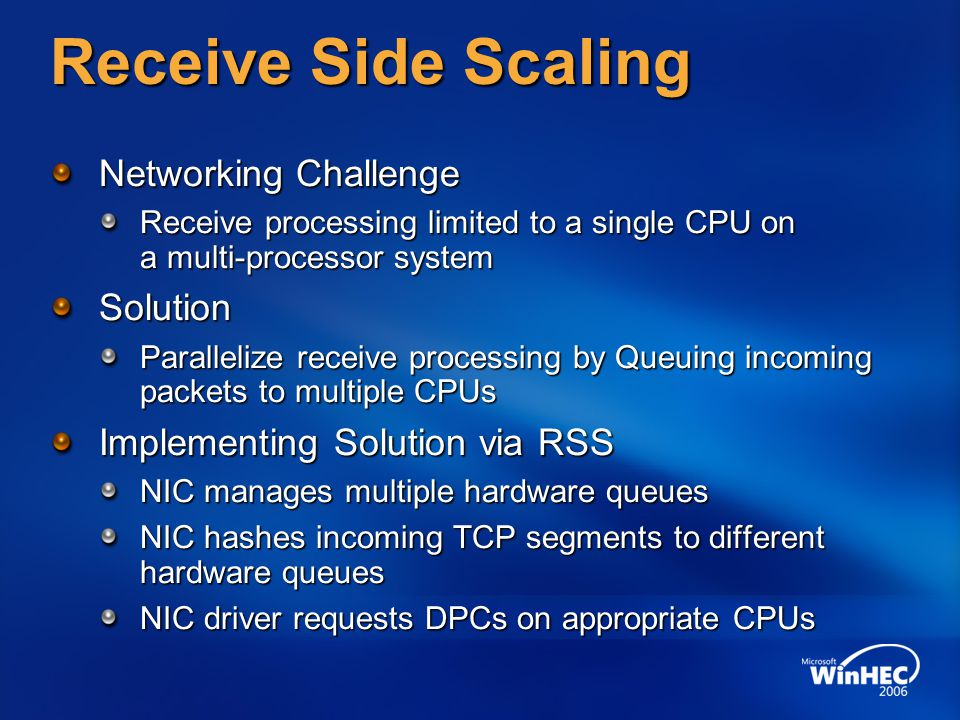 Receive Side Scaling Networking Challenge Solution