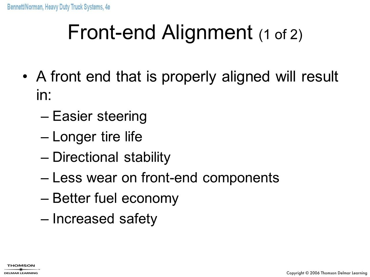 Front-end Alignment (1 of 2)