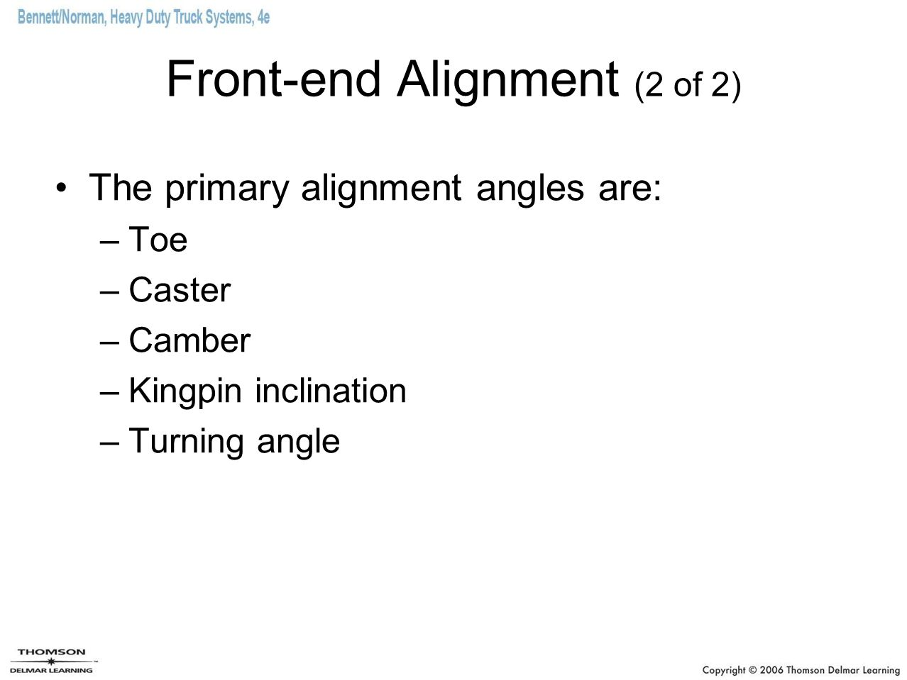Front-end Alignment (2 of 2)