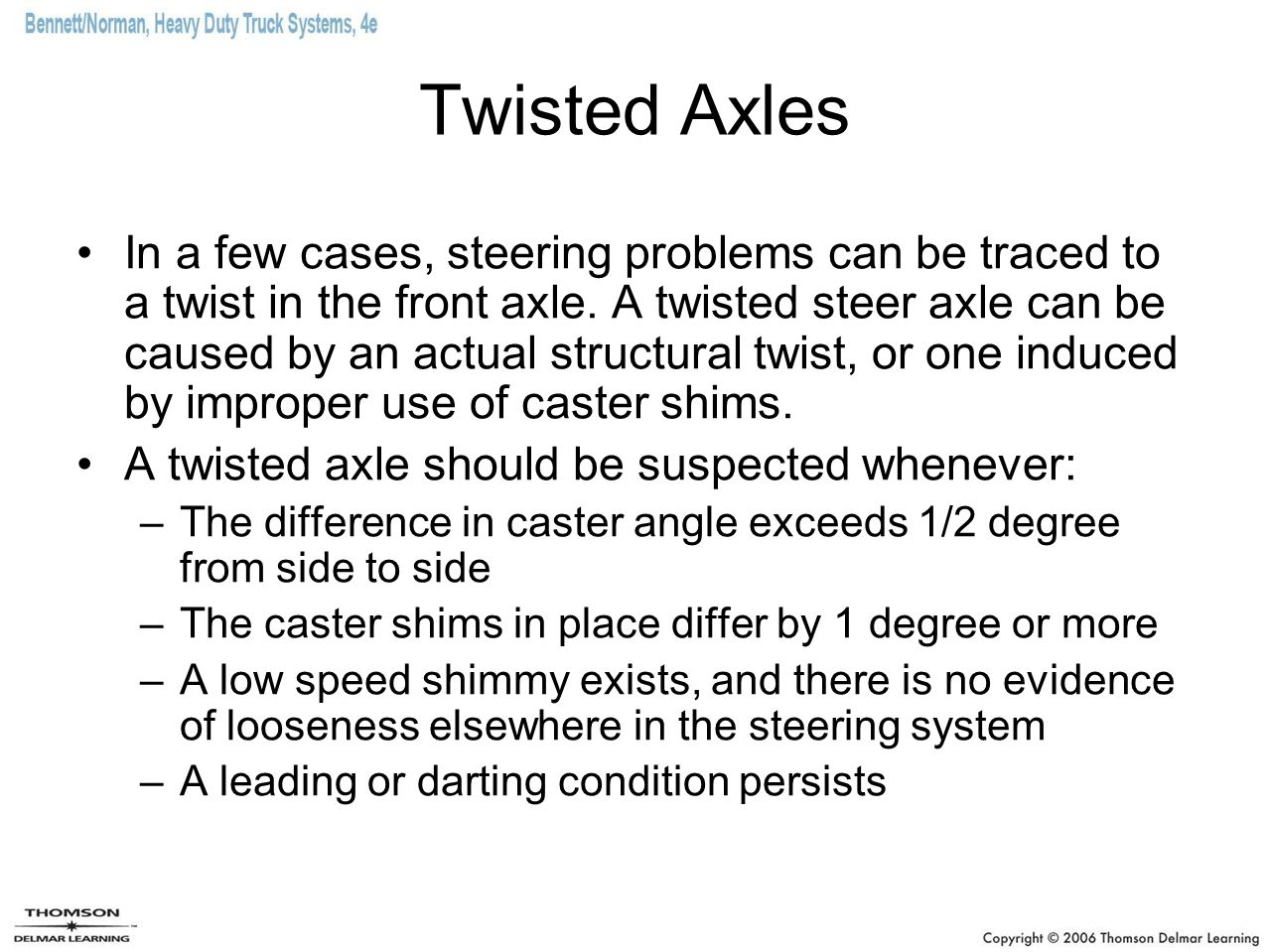 Twisted Axles