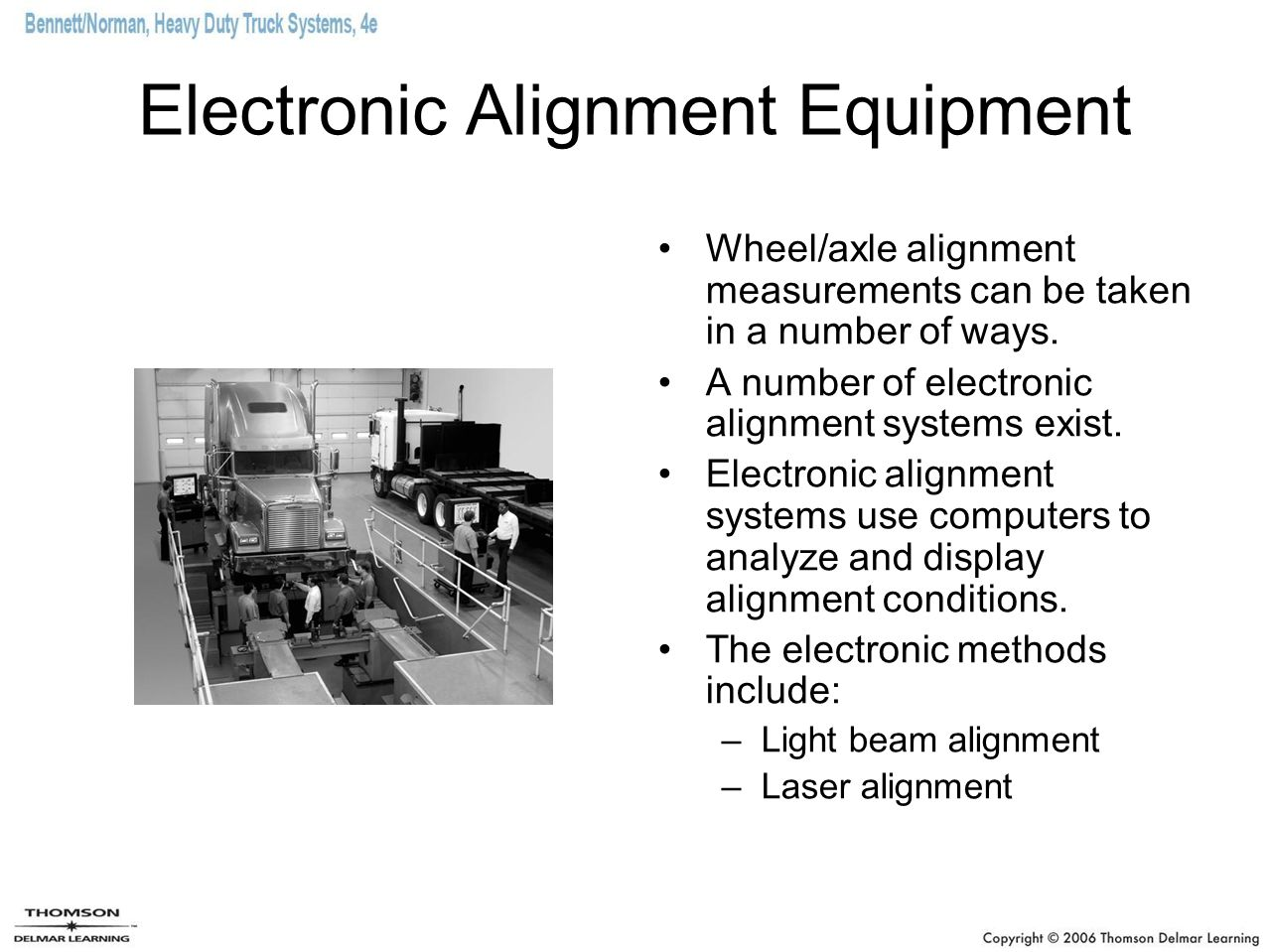 Electronic Alignment Equipment
