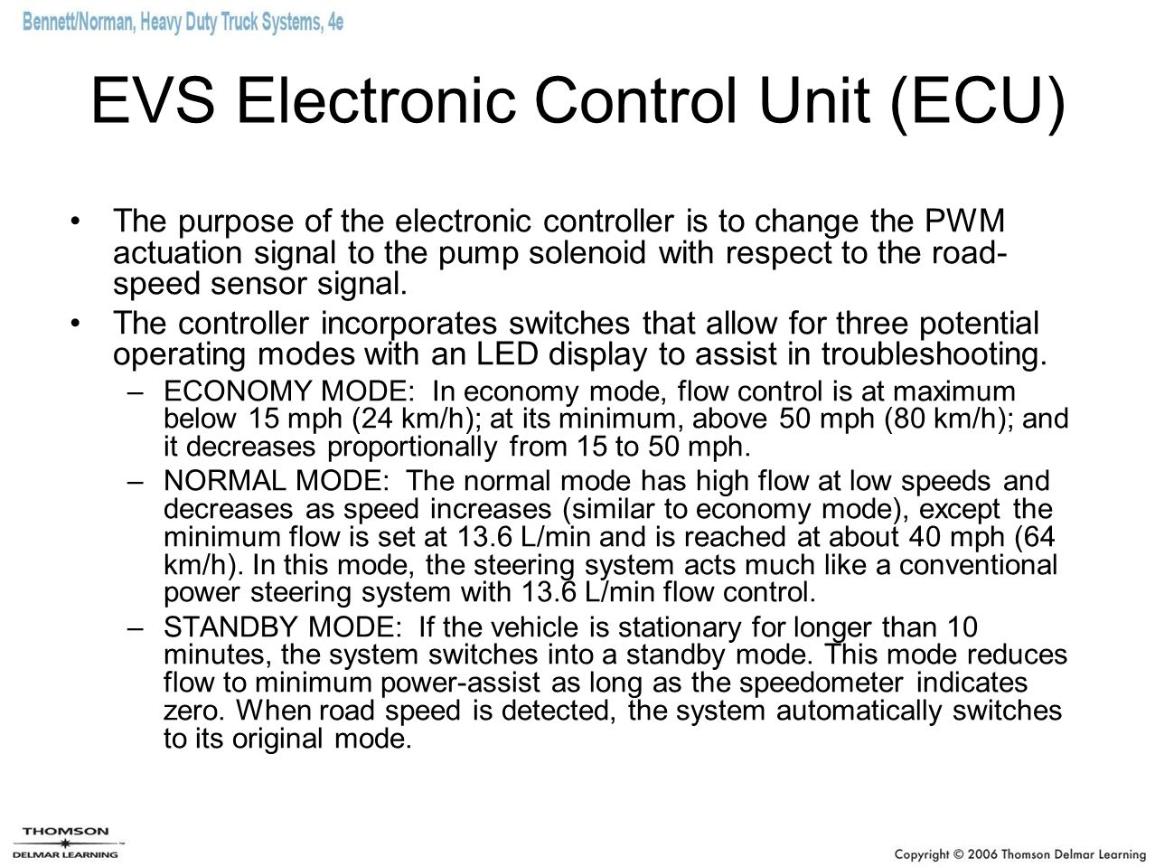 EVS Electronic Control Unit (ECU)