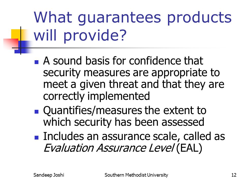 What guarantees products will provide