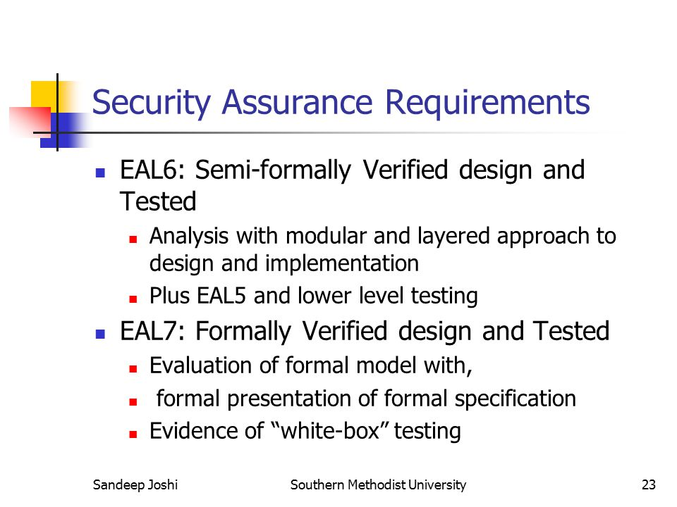 Security Assurance Requirements