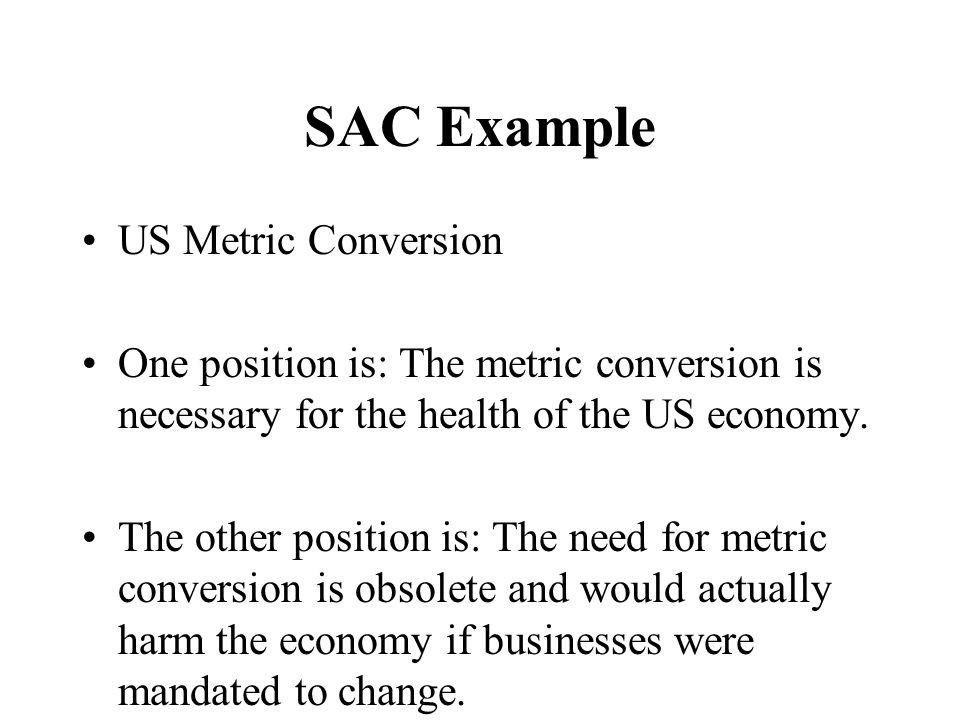 SAC Example US Metric Conversion