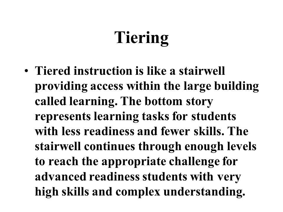 Tiering
