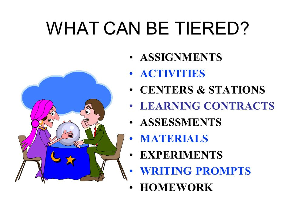 WHAT CAN BE TIERED ASSIGNMENTS ACTIVITIES CENTERS & STATIONS