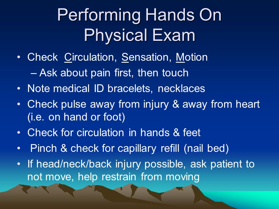 Performing Hands On Physical Exam