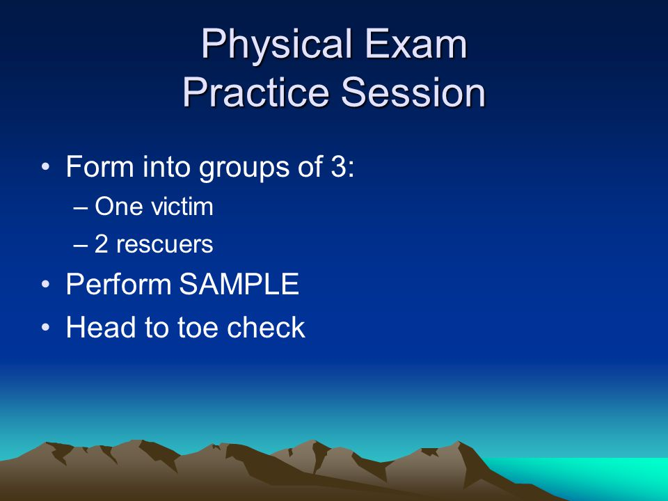 Physical Exam Practice Session