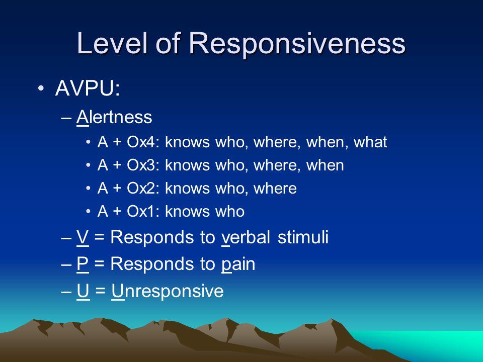 Level of Responsiveness