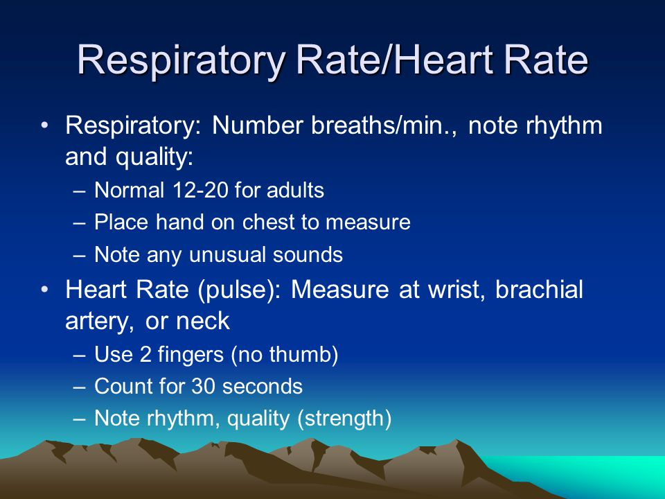 Respiratory Rate/Heart Rate