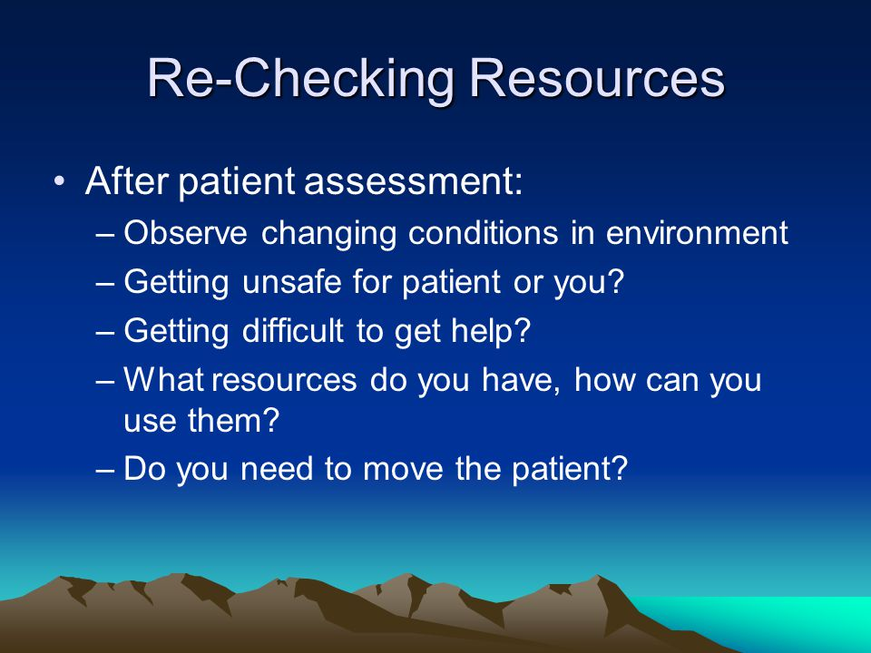 Re-Checking Resources