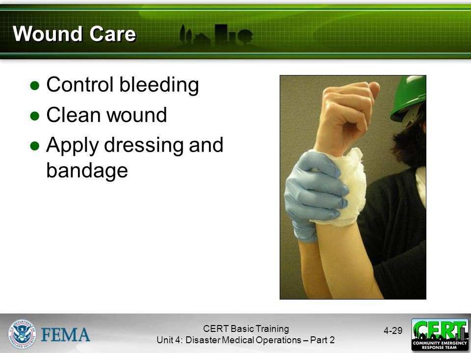 Cleaning and Bandaging Wounds