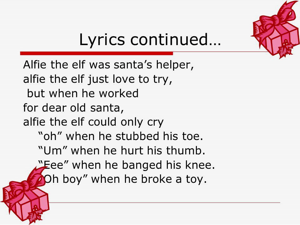 Elf lyrics