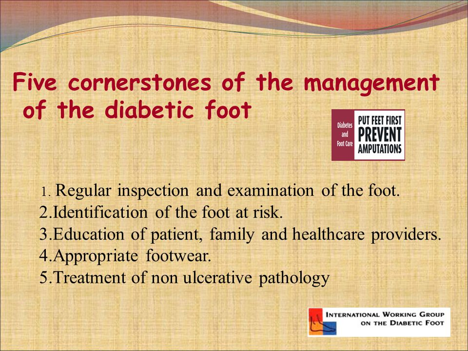 Five Cornerstones Of The Management Of The Diabetic Foot Ppt