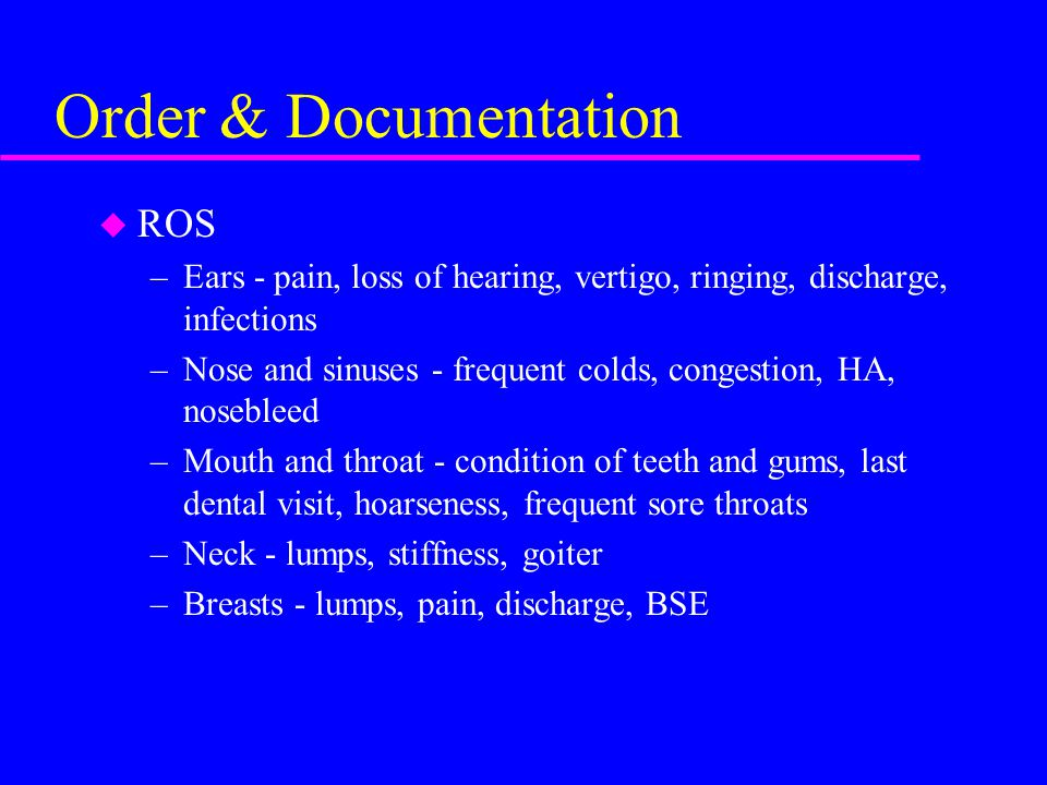 Order & Documentation ROS