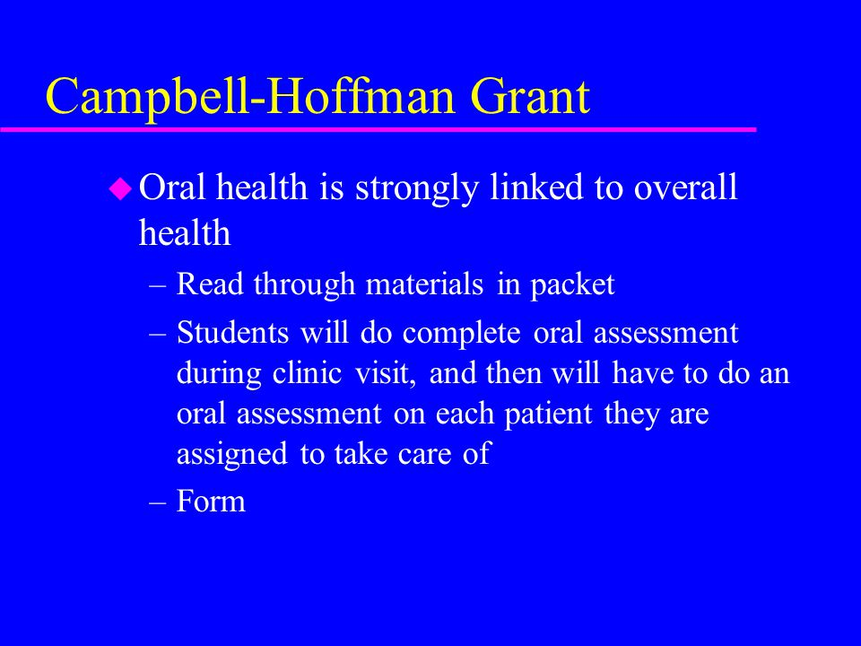 Campbell-Hoffman Grant