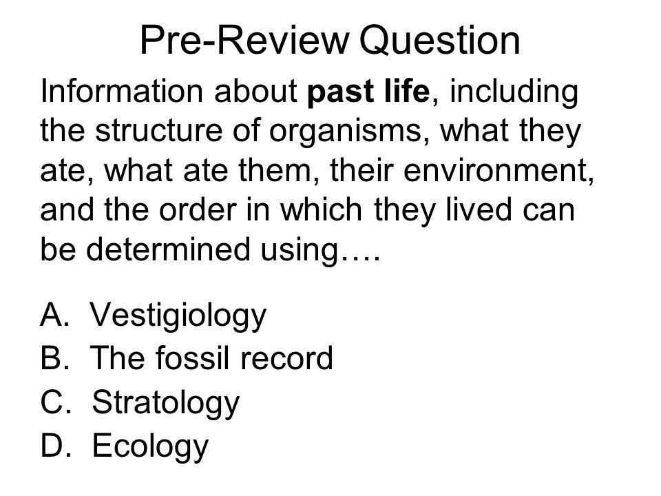 Pre-Review Question