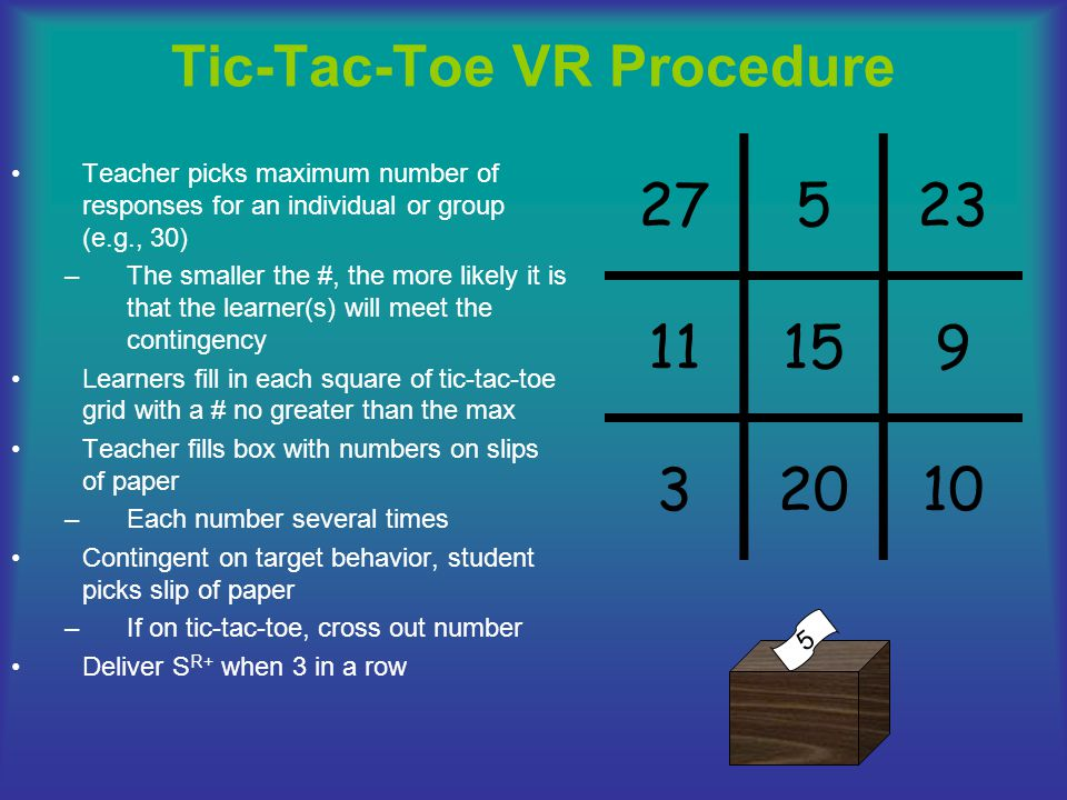 Tic-Tac-Toe VR Procedure
