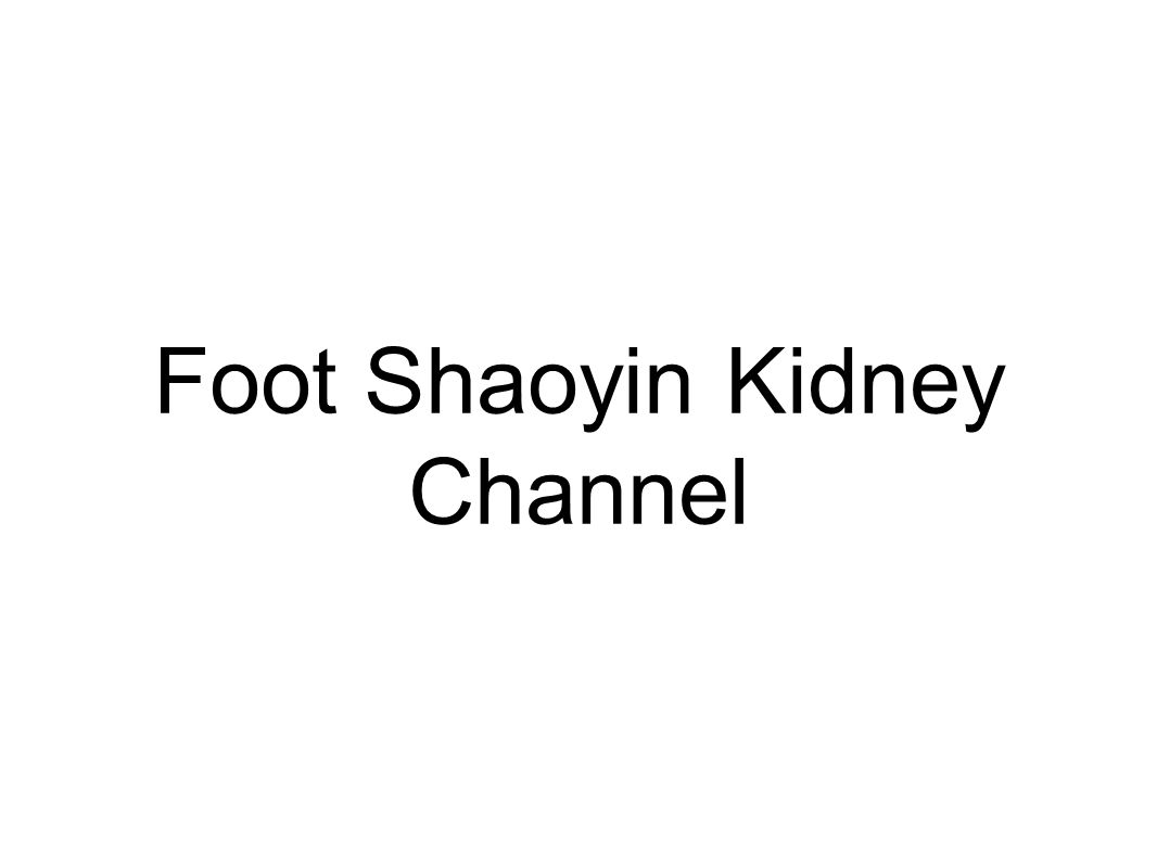 Foot Shaoyin Kidney Channel