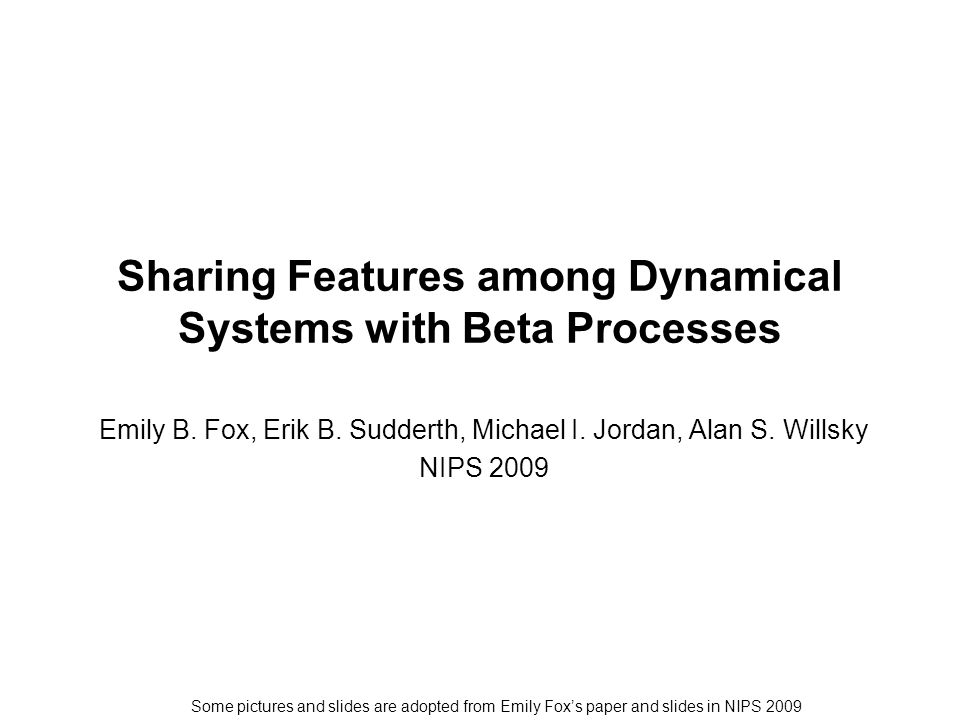 Sharing Features among Dynamical Systems with Beta Processes