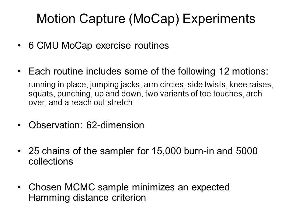 Motion Capture (MoCap) Experiments