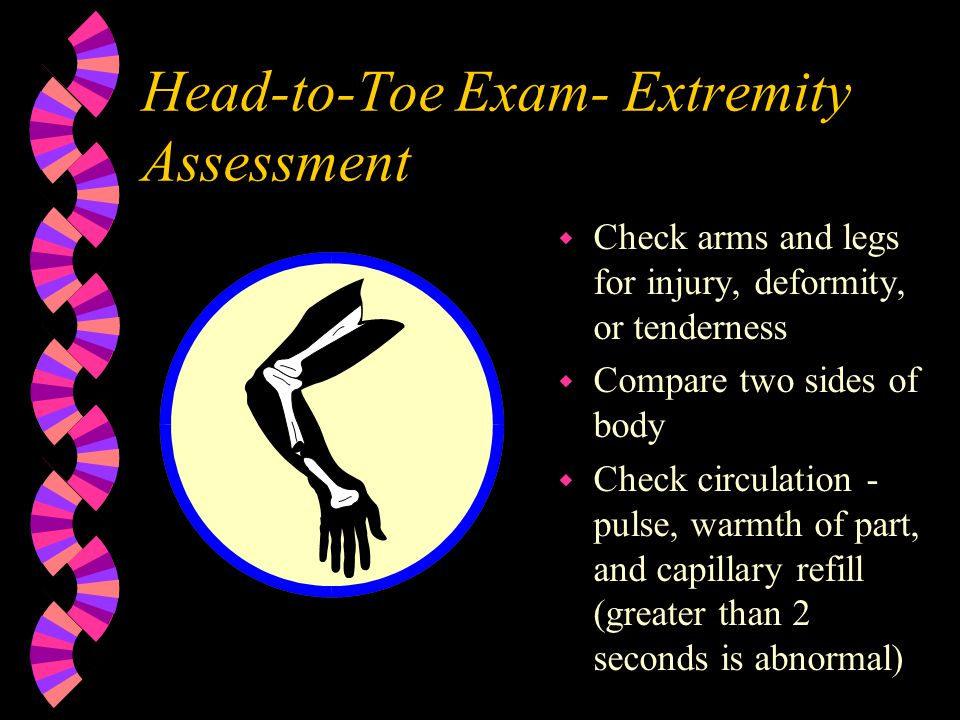 Head-to-Toe Exam- Extremity Assessment