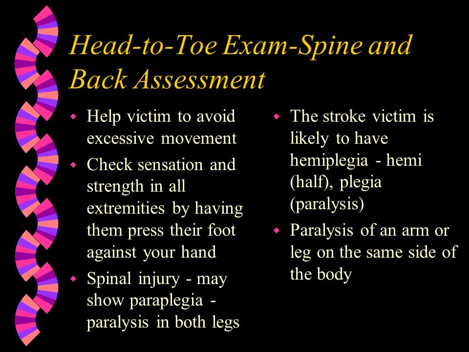 Head-to-Toe Exam-Spine and Back Assessment