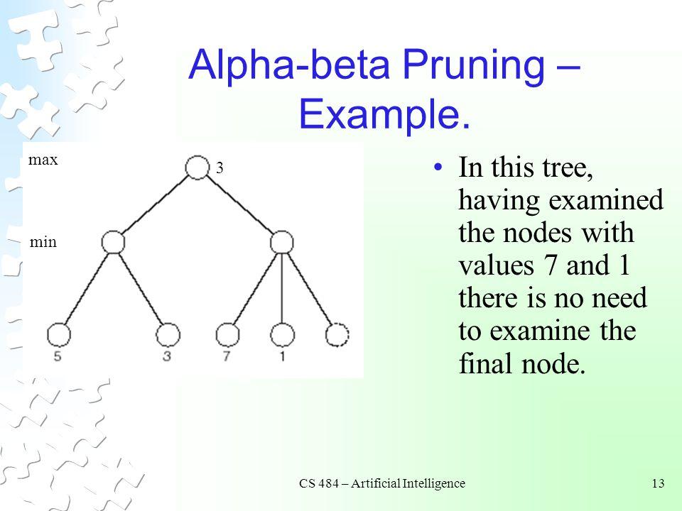 Alpha-beta Pruning – Example.