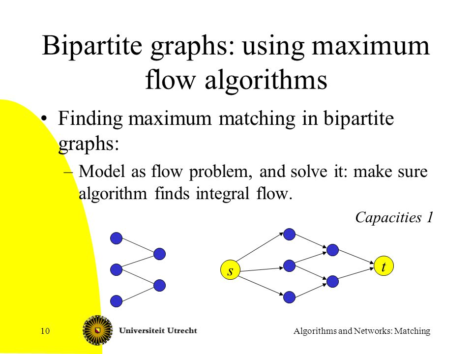 Bipartite graphs: using maximum flow algorithms