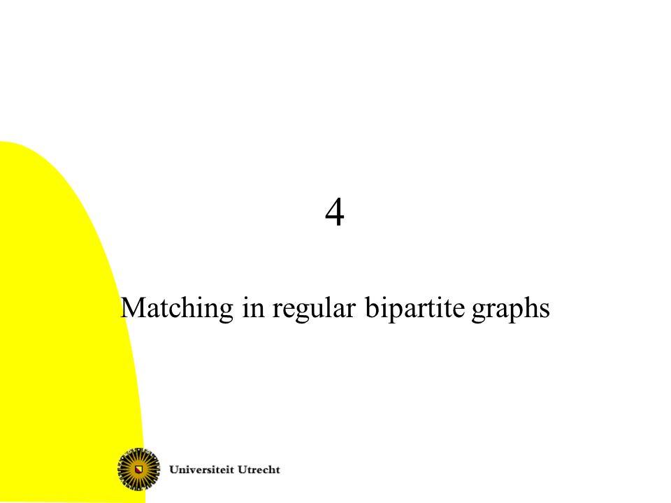 Matching in regular bipartite graphs