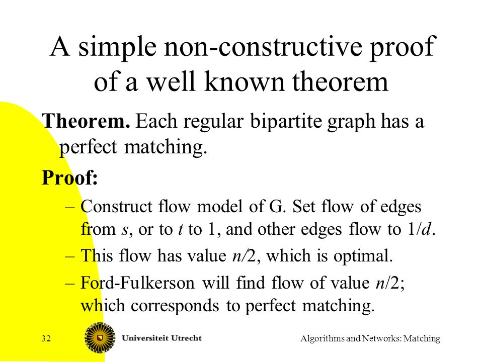 A simple non-constructive proof of a well known theorem