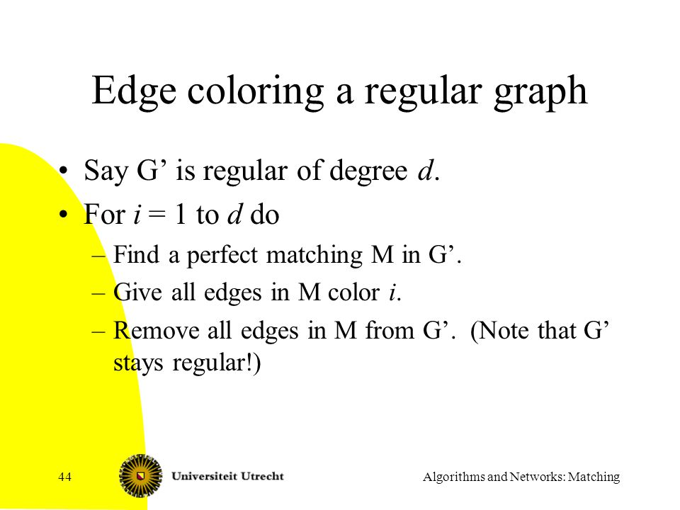 Edge coloring a regular graph