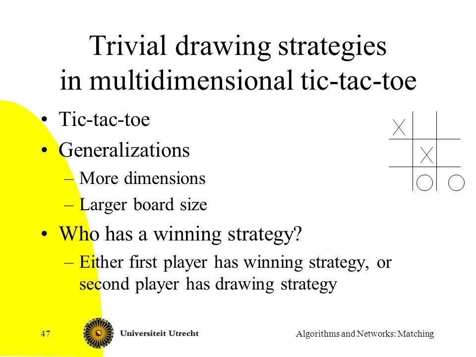 Trivial drawing strategies in multidimensional tic-tac-toe