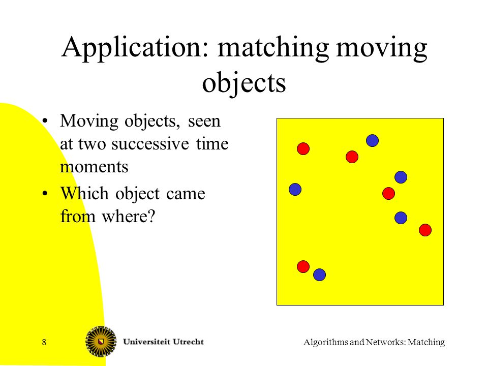 Application: matching moving objects