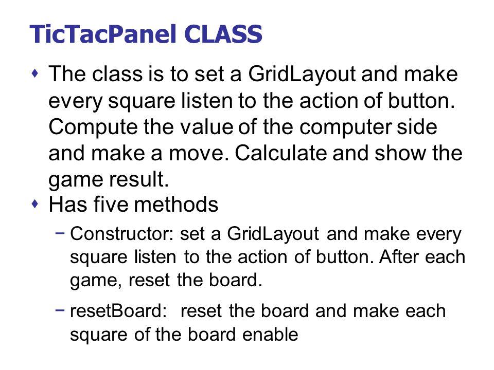 TicTacPanel CLASS