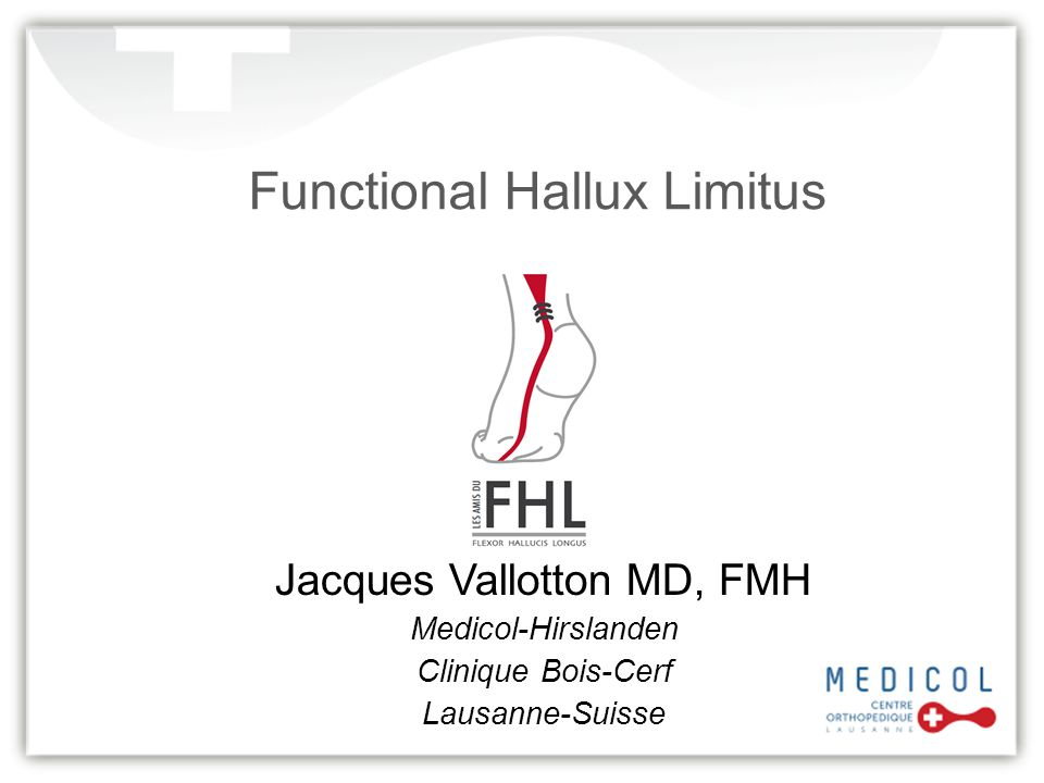 Functional Hallux Limitus