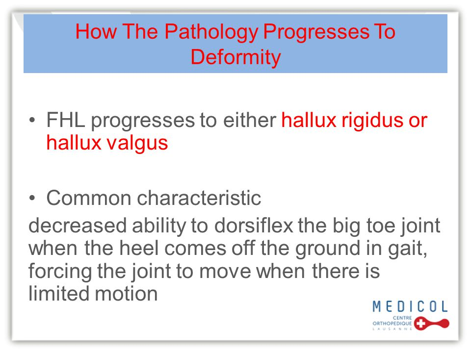 How The Pathology Progresses To Deformity