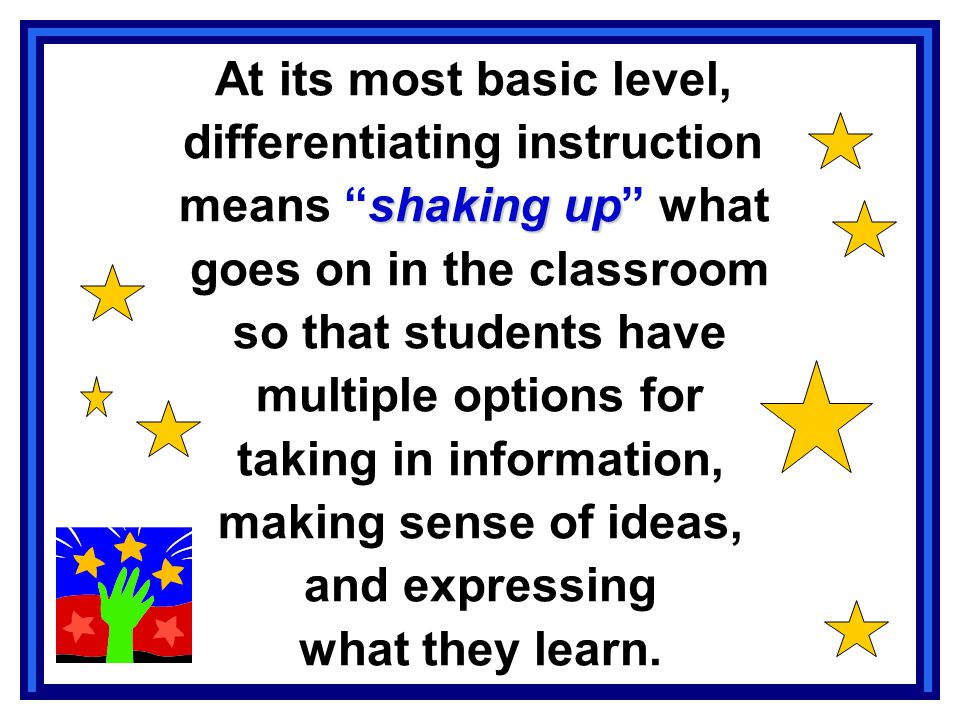differentiating instruction means shaking up what