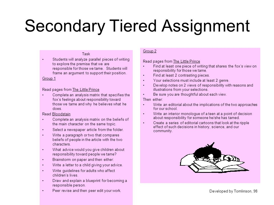 Secondary Tiered Assignment