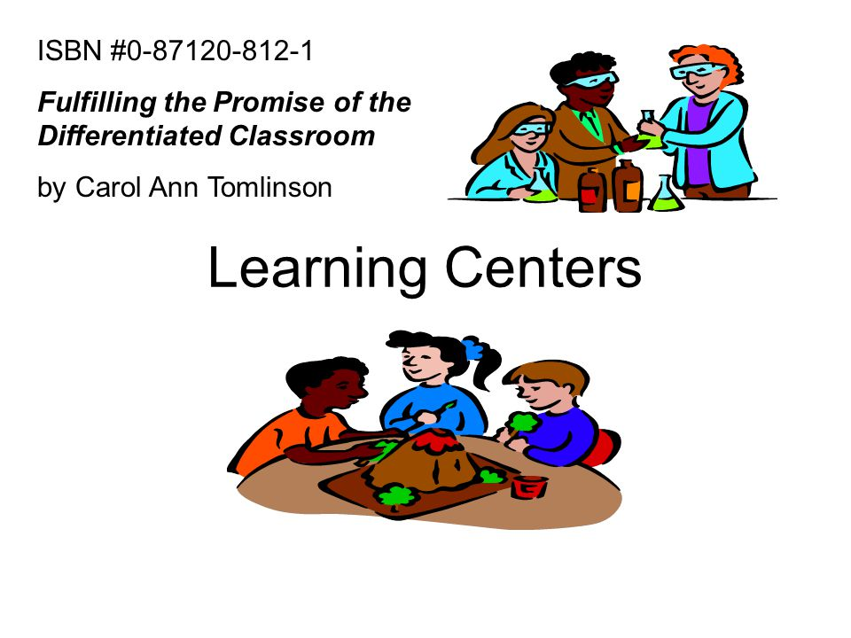 Learning Centers ISBN #0-87120-812-1