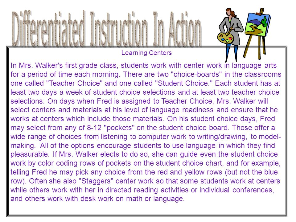 Differentiated Instruction In Action