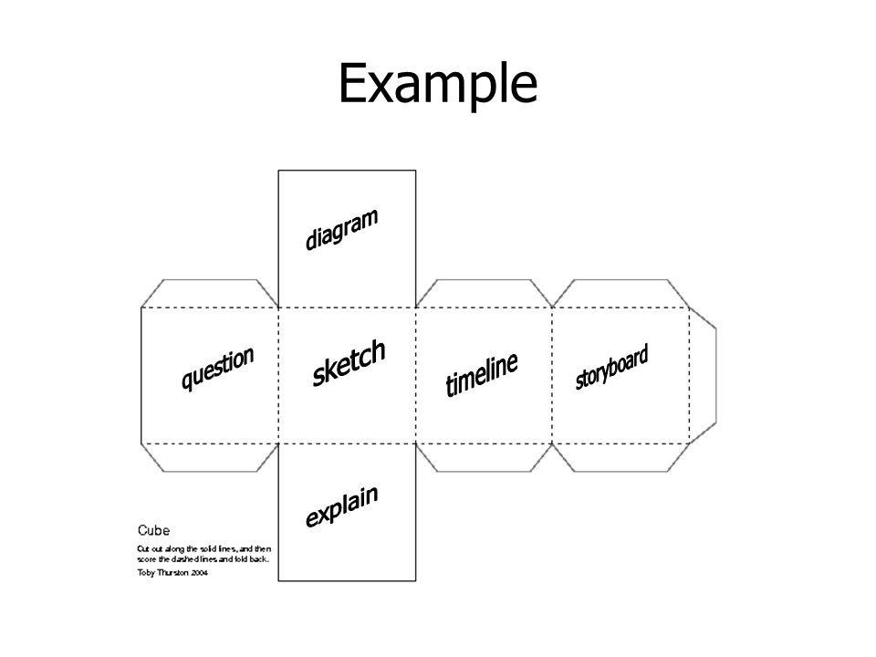Example diagram sketch question timeline storyboard explain